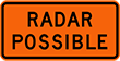 Indicates the possible presence of a mobile photo radarmobile